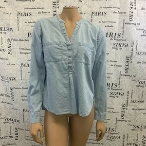 Limited Shirt Solid Light Blue Chambray